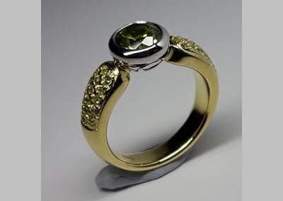 Sapphire Diamond Dress Ring