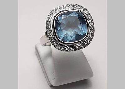 Topaz Diamond Ring 1
