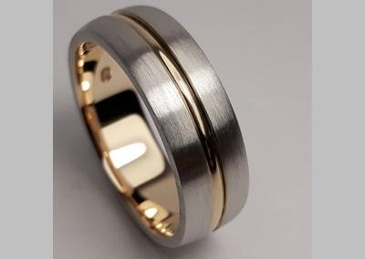 Men's Two Tone Wedding Ring