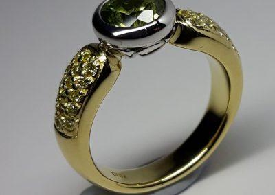 18ct Sapphire Diamond Dress Ring