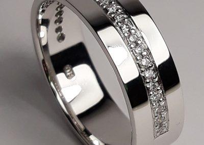 18ct Diamond Set Wedding Ring 2